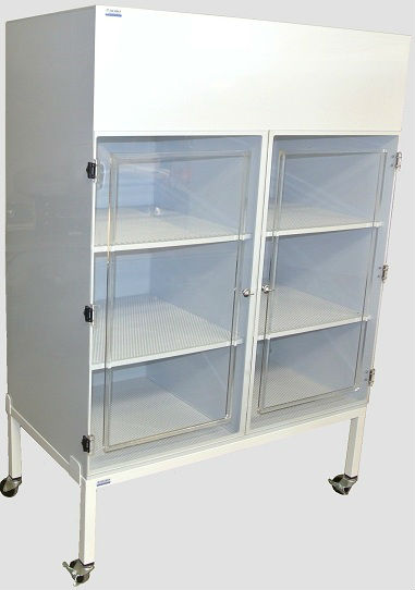 Polypropylene Cabinet with Clear Static Dissipative PVC Door