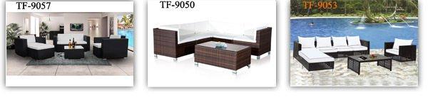TF-9031 wicker sofa set