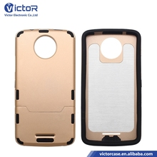2017 NEW wholesale price Mobile phone soft R Slim laser brushed PC TPU 2in1 cases for MOTOROLA C PLUS