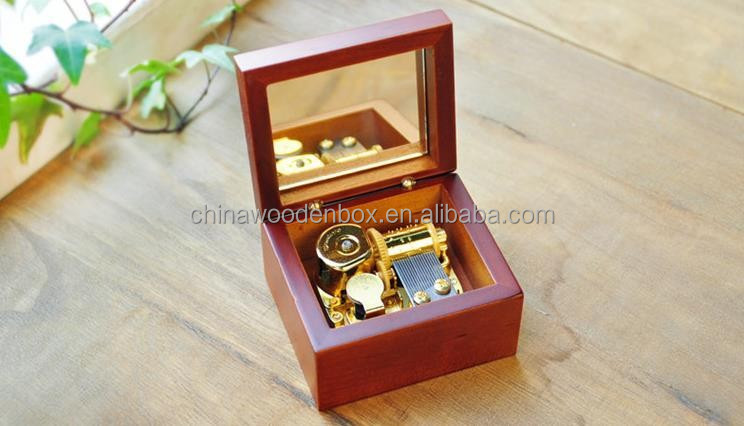 Wholesale good quality mini Wooden Music Box