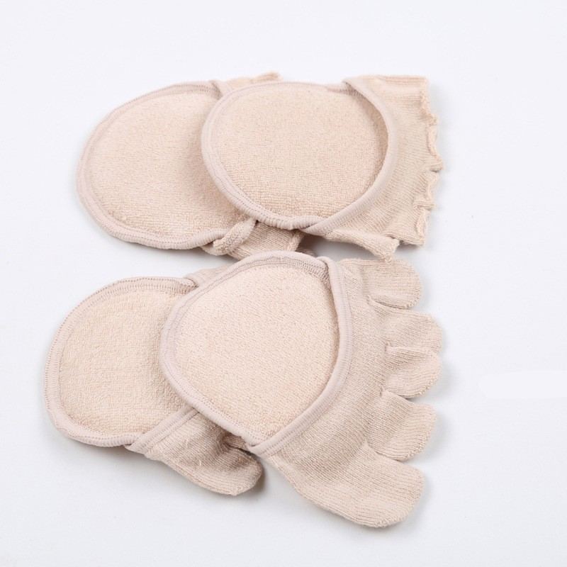 Anti-slip Summer short Toe sock with thick forefoot pad
