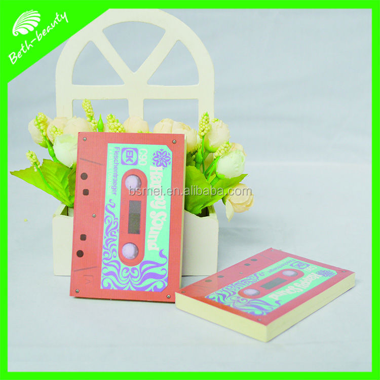 Customized shaped promotional art paper cover sticky notes