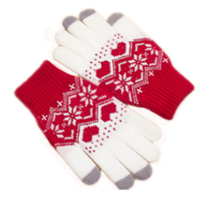 Jacquard Knitted Winter Warm Screen Touch Wholesale Gloves