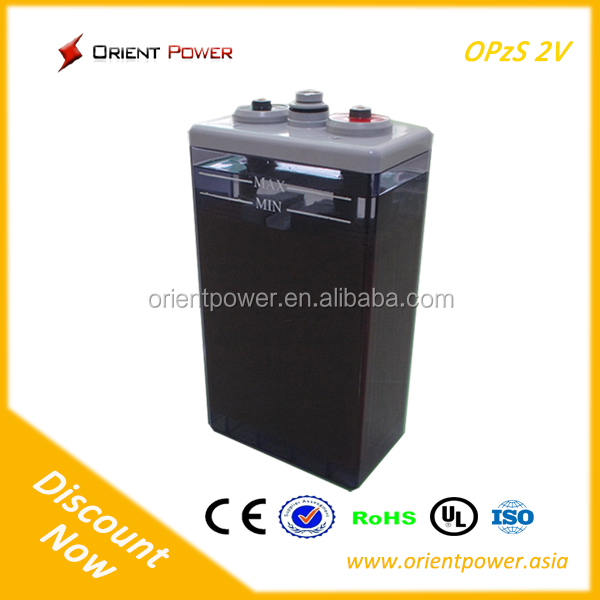 800ah battey factory supply 2v OEM tubular battery opzs