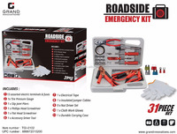 31 piece road side emergency kit