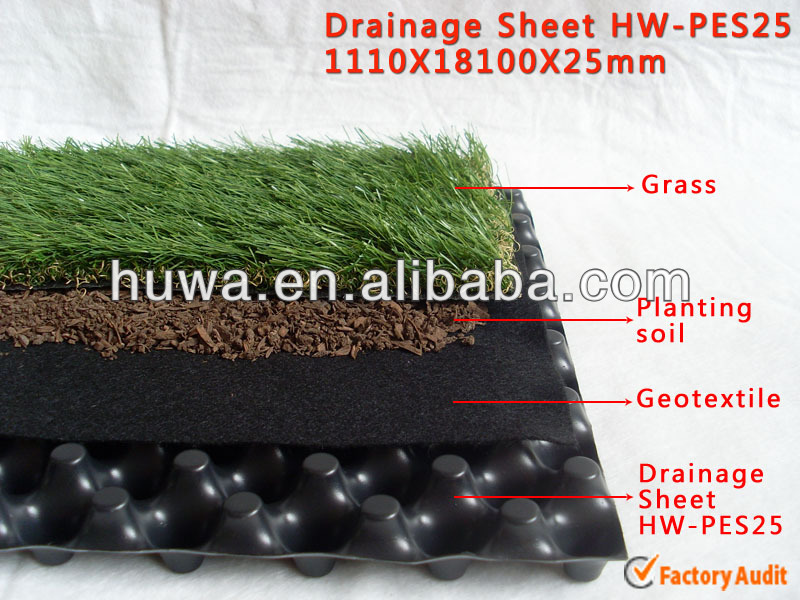 lightweight building construction materials drainage membrane cavity plastic drainage board green roof drainage sheet strip