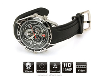 1080P HD Watch Camera with IR light, Voice-activated t wrist watch hidden camera PQ170