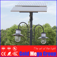 Top quality easy install IP65 18w european style led solar garden lights