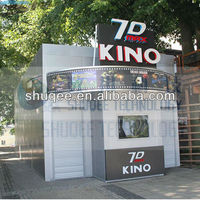 Durable material 7D cinema system , differnet cinema 7D cabin , new model