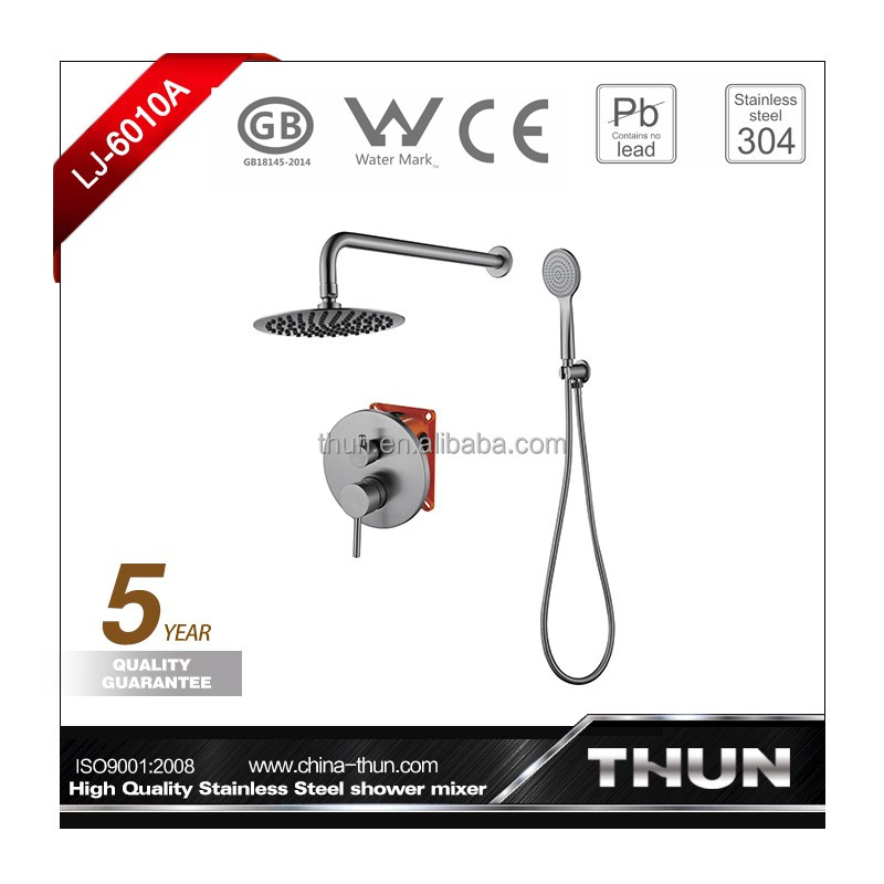 Concealed lead free high quality rain shower and hand shower set