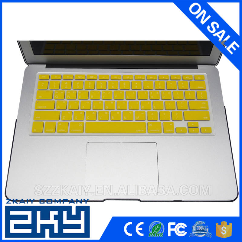 US Korean Letters protective film silicone keyboard cover sticker for Macbook