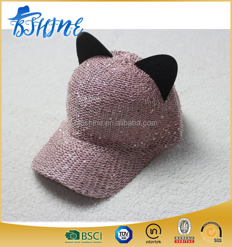 kid hats knitted baseball cap with ears