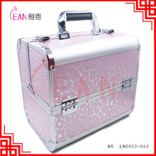 vanity trolley cosmetic case aluminum luxury cosmetic travel case makeup case with lock
