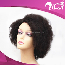 Hot sale virgin brazilian hair short afro kinky hair full lace wig for black men