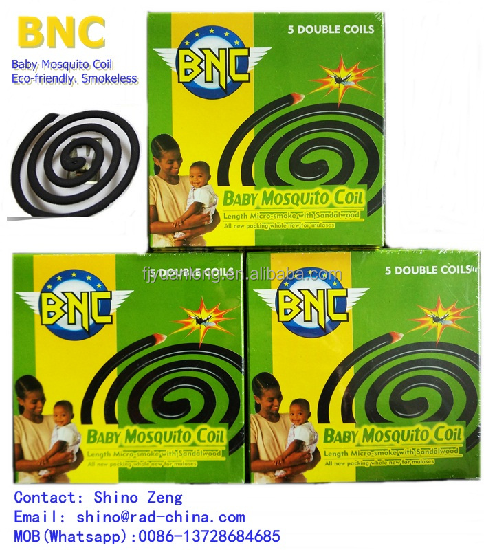 125mm 140mm BNC Chemical Formula Mosquito Coil for Mauritania/Syria Africa Market
