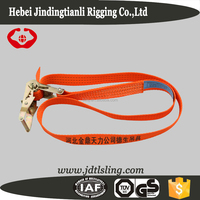 Cheap safety belt ratchet belt strap ratchet strap with orange color