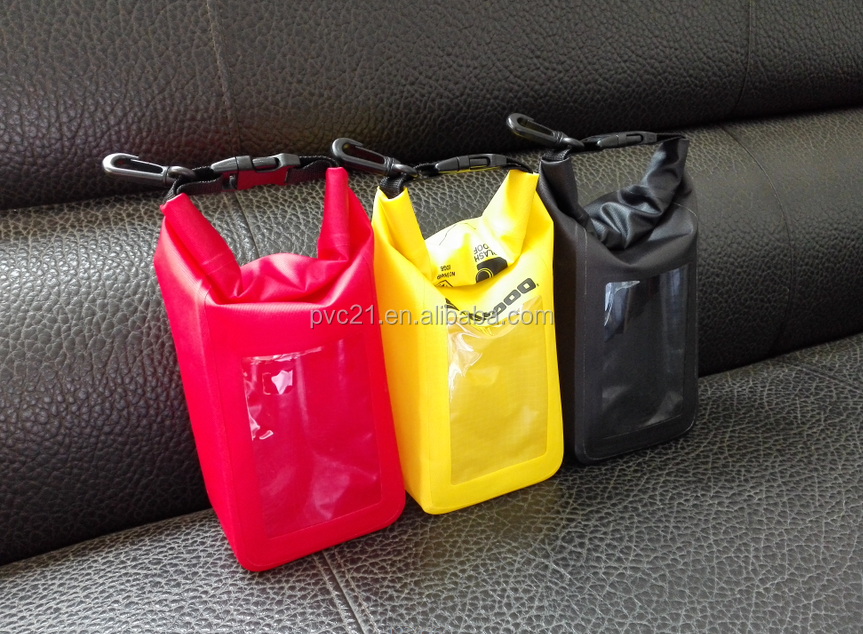 colorful Nylon waterproof dry bag for phone bags or pad