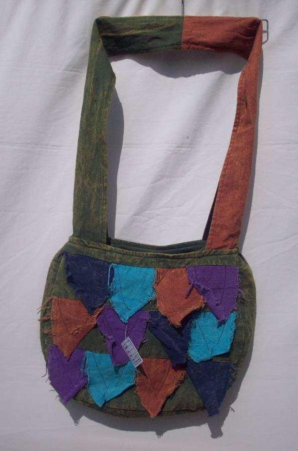 Stone Washed Rough Cut Bag with Inside Zipper