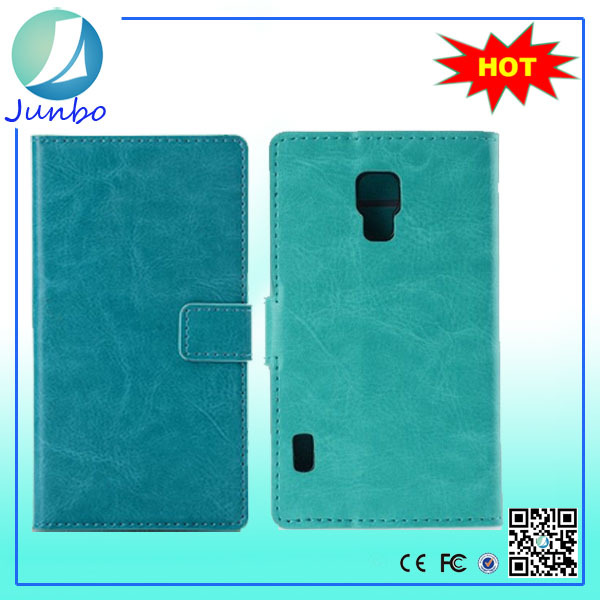 Popular custom leather 5 inch mobile phone back cover case for LG L7