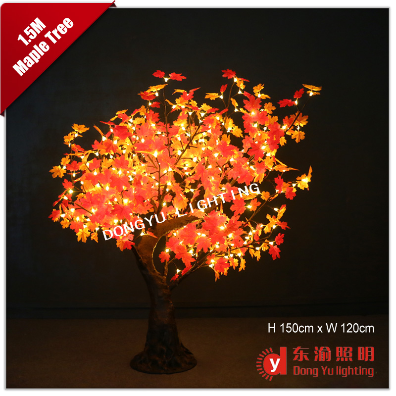 new artificial red maple artificial tree led tree for garden christmas artificial plant