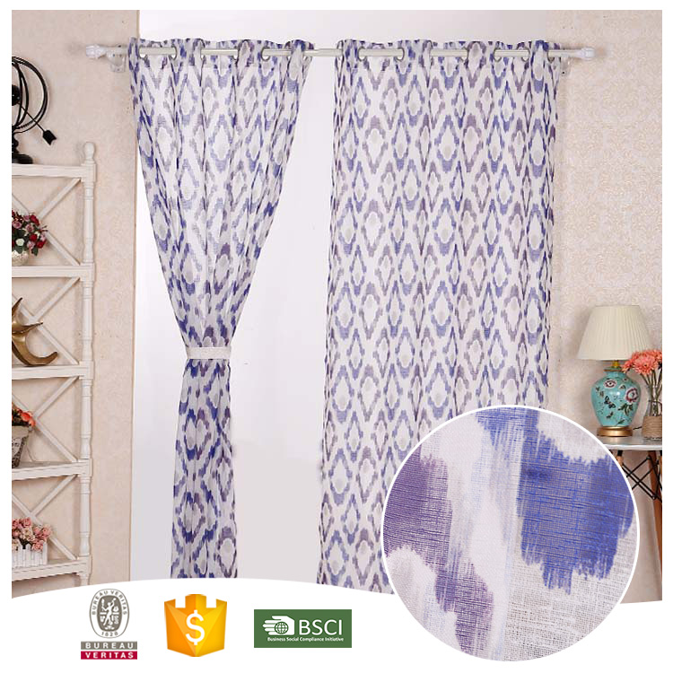 Best Selling Famous Brand Abstract polyester organza curtains