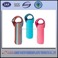 Customized Neoprene Wine Bottle Cover/Cooler with Tote 1-6 packs