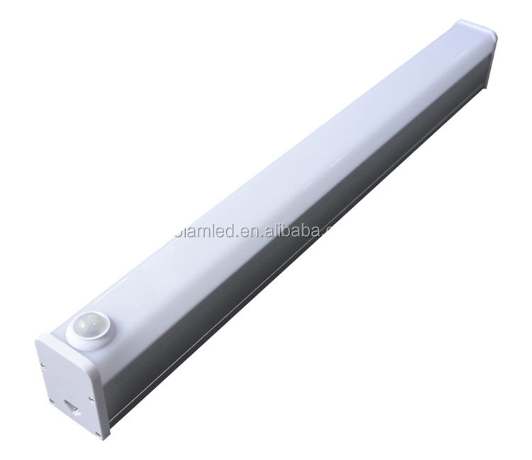 Home decorative LED linear light 40W 48W 60W 3ft 4ft 5ft IP40 linkable tubes light for parking lot with motion sensor