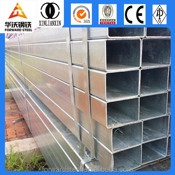 price list of galvanized square pipe/ tube in stock building metal