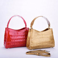 New red croco belly lady small bags cross body lady bag thailand exotic handbag