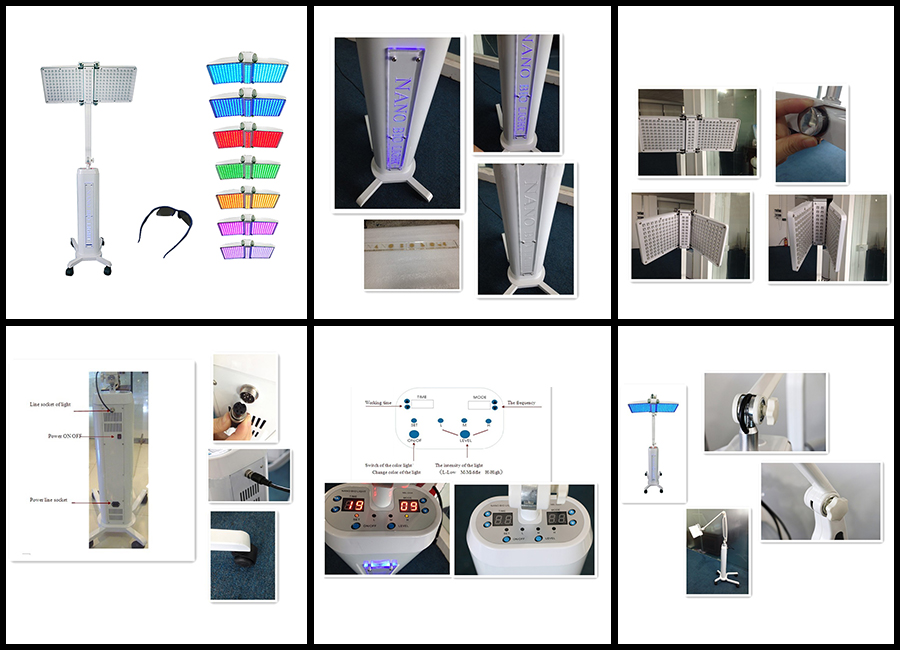 7 color led pdt bio-light therapy / pdt led light therapy machine