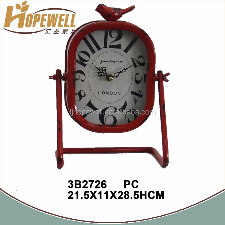 home decoration metal clock , fancy alarm kid clock