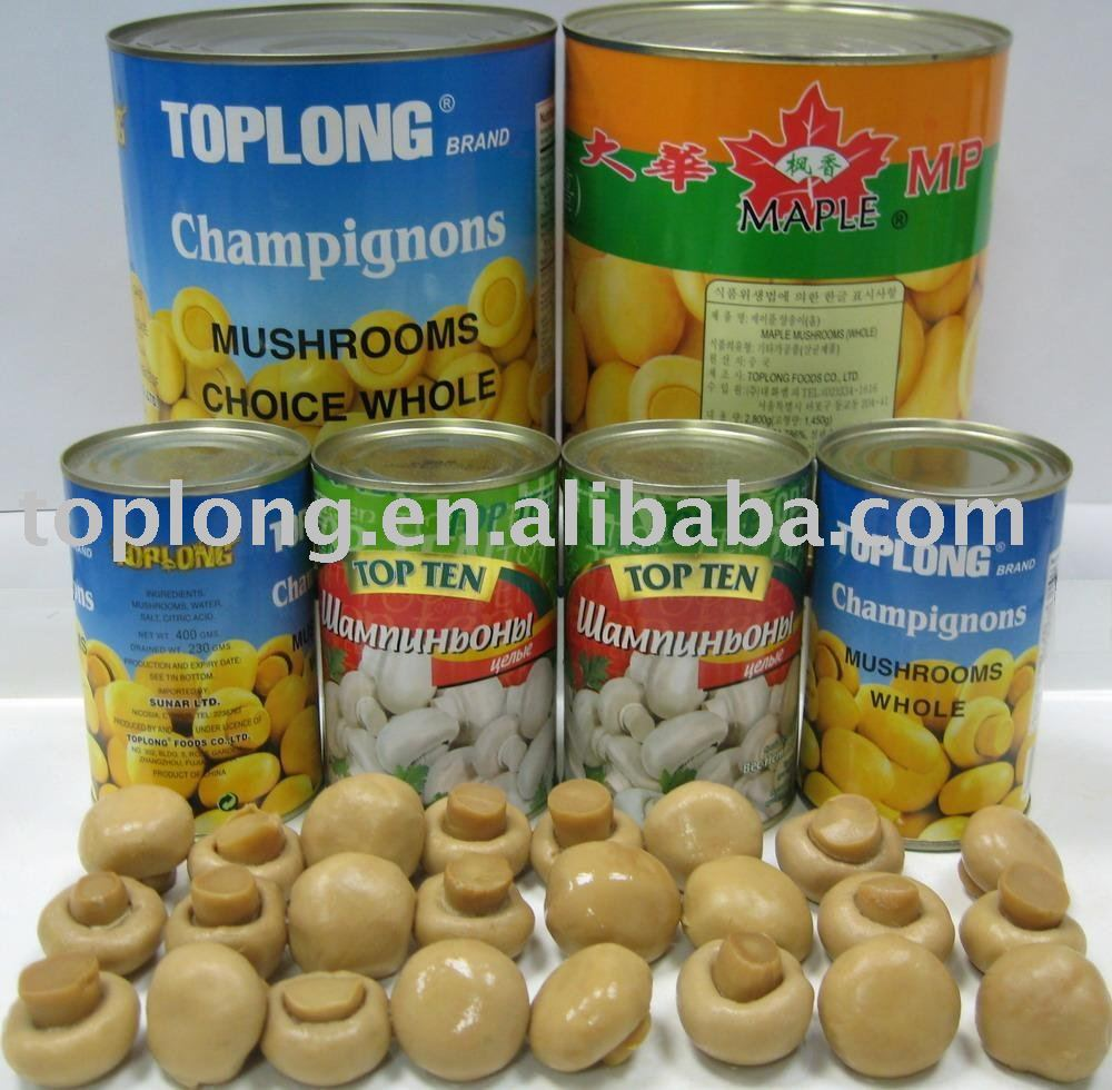 Canned Mushrooms whole