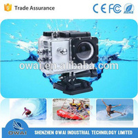 High definition screen sport full hd 30 fps mini waterproof camera