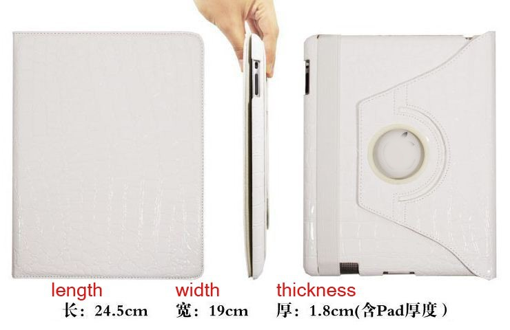 white color PU leather bluetooth keyboard cover eva case for ipad