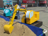Playground activity for children play electric kids cat ride on excavator toy