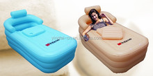 blue and pink inflatable air bathtub for adults