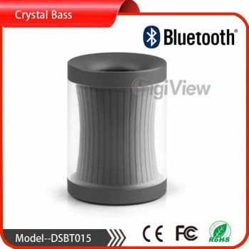 AUX in bluetooth speaker crystal glass bluetooth spealer for smart cellphones portbale mini speaker