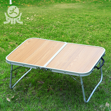 Portable metal small low folding tea table for outdoor