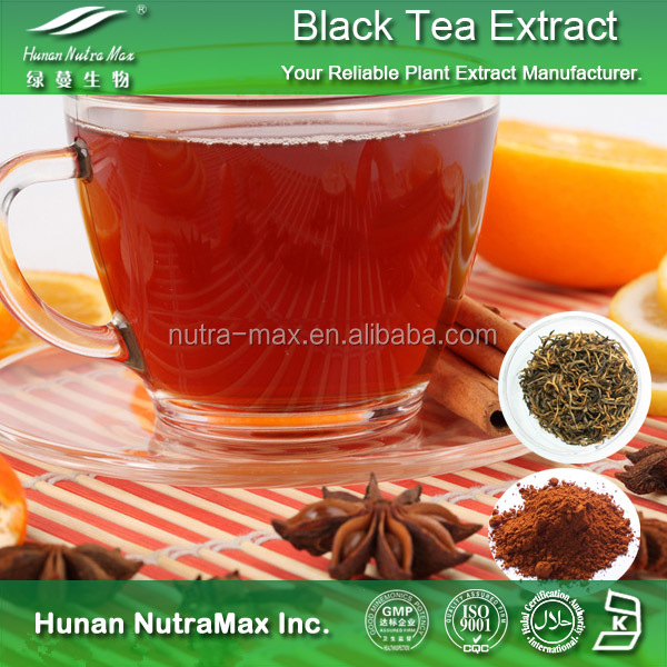 Plant Herbal Black Tea Extract 40% Theaflavin Powder