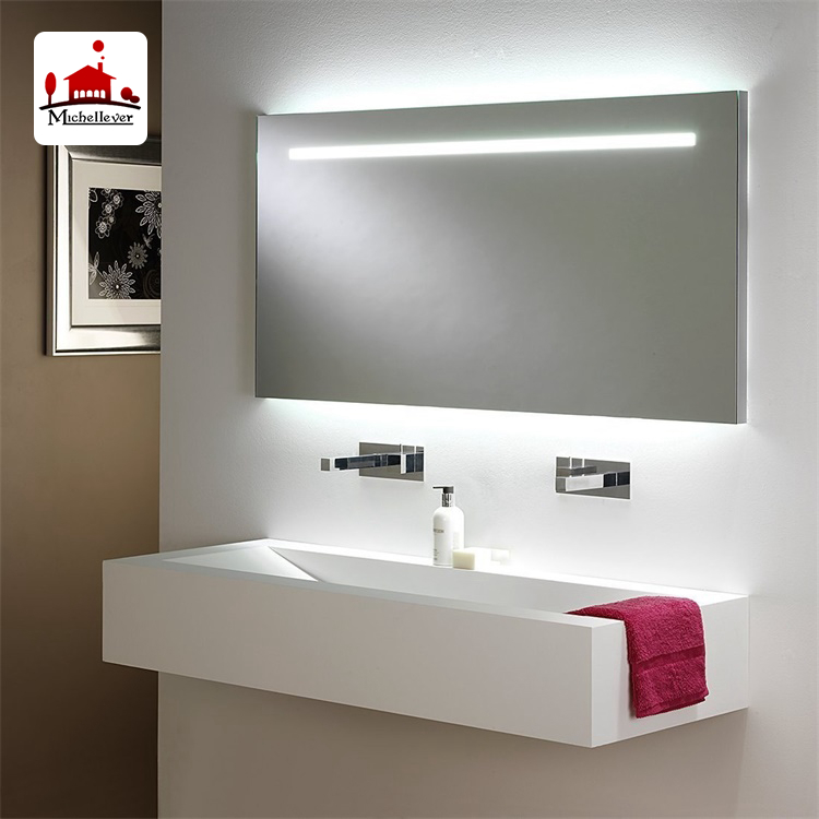 High Quality Backlit Bathroom Mirrors Canada Back Lighting 5mm Thickness Gl Wall Led Vanity Mirror