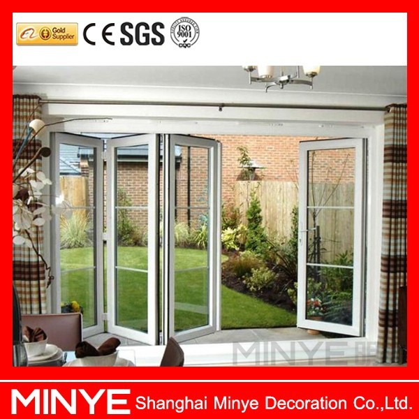 plastic folding open horizonral grid entry door