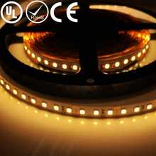 UL Listed Nonwaterproof 7.2W 36LED 792LM Per Foot 16.4FT Roll 2700K Warm White 80RA CRI 12V Self Adhesive LED Strip Light