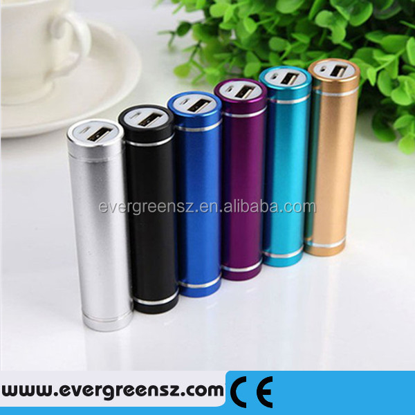 Backup USB Power Bank Lipstick Sized Mini Cell Phone Charger External,Portable Battery Pack for iPod,smartphone,MP3,MP4