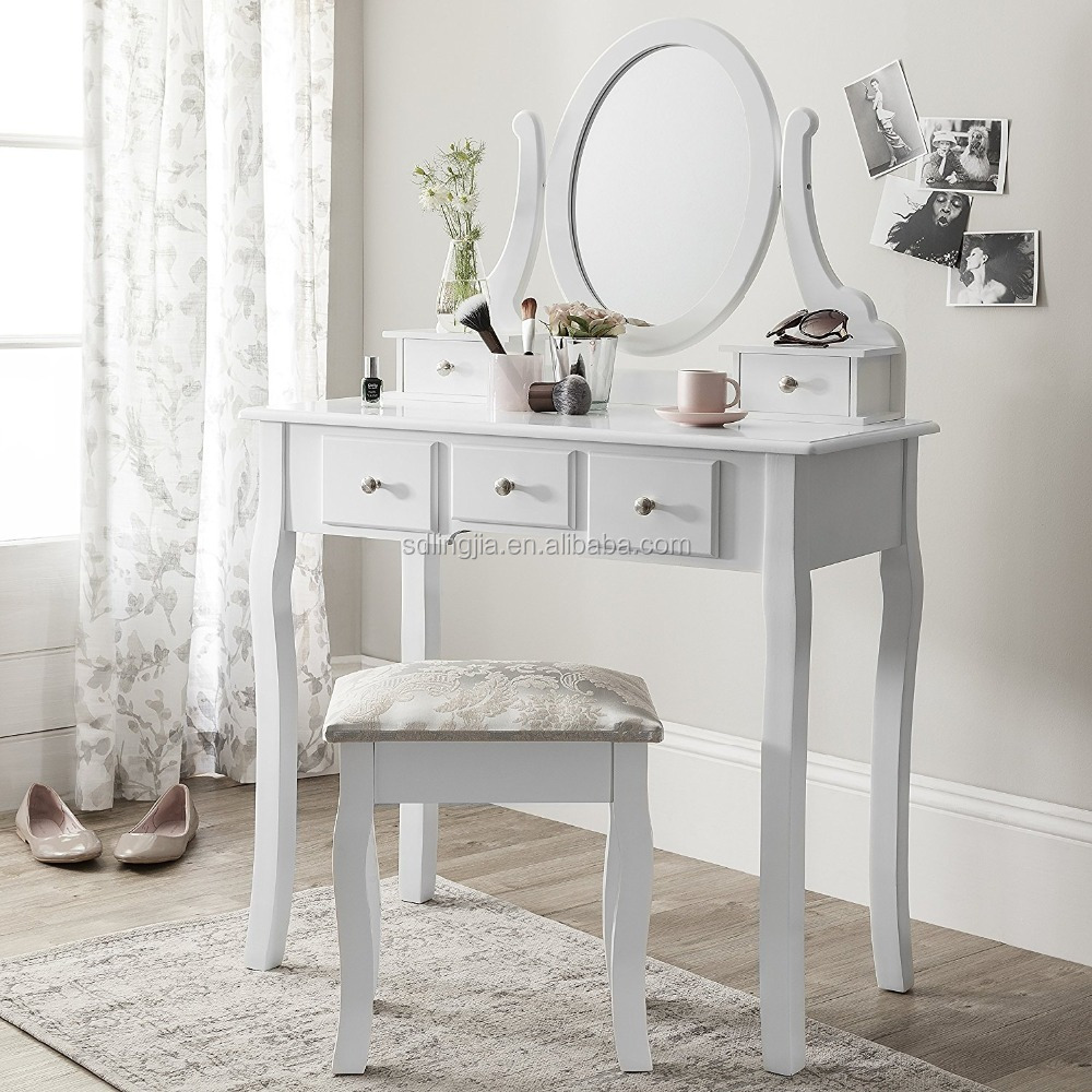 Makeup cupboard art dressing table mirrored furniture with drawer