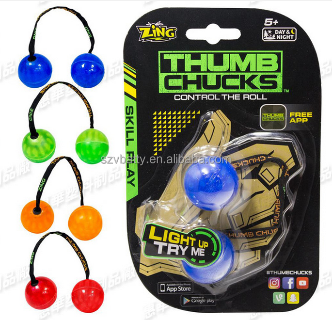 Roll Yoyo Skill Toy Anti Stress Hand Begleri Thumb Chucks yoyo