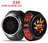 New fashion biggest memory camera wifi GPS heart rate monitor hand 3G phone watch Z10 with HD dynamic screen