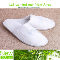 velour/terry material soft unisex cheap hotel disposable slipper factory in Yangzhou