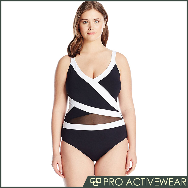 (Trade Assurance)Hot sale one piece Plus size cover ups swimwear