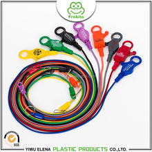Anti-lost OEM design multicolor lobster claw casino bungee cord
