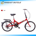 20 Inch Red Mountain Bicycle 6 Speed Foldable Folding Bike Cycling Sport Fold Bicycle